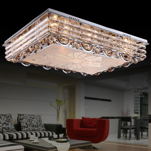 asiatischen duo minimalistischen modernen f hrte kristall kristall licht led deckenleuchte. Black Bedroom Furniture Sets. Home Design Ideas