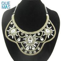 online shop china Ethnic Jewellery Luxury Gems Flower Shape Choker Necklace Diamond Jewelry Wholesale Indian Jewelry 2017