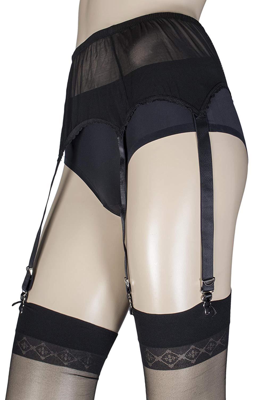 a925ffbbd1e Get Quotations · Couture Ladies Six Strap Suspender Belt