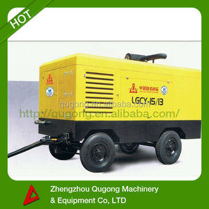 13 Bar Mining Used Trailer Diesel Portable Air Compressor Water Well Drill Machine