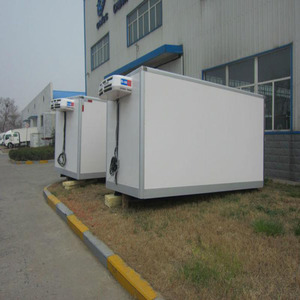 China ice cream refrigerated box truck with low temeurature units for sale