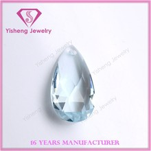 Wholesale Rose Cut Faceted Gemstones Teardrop Clear Glass Beads