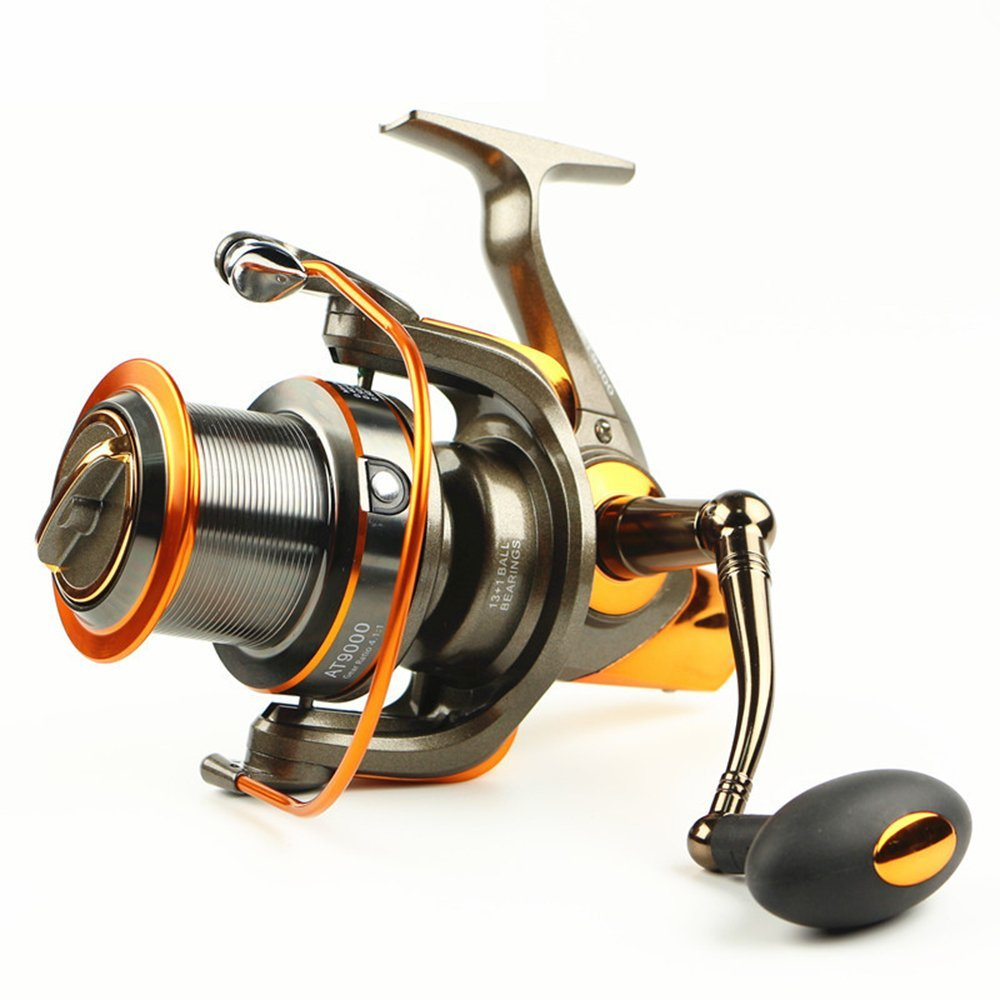 YUMOSHI Round of large shot AT8000 9000 13 BB wheel Sea fishing reel Infinite Anti-Reverse Structure fishing wheel
