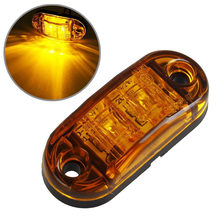 1 шт., 2 светодиодные, боковые, габаритные фонари для автомобиля, внешний Предупреждение ющий задний светильник, 12 В, 24 В, автомобильный прицеп...(Китай)