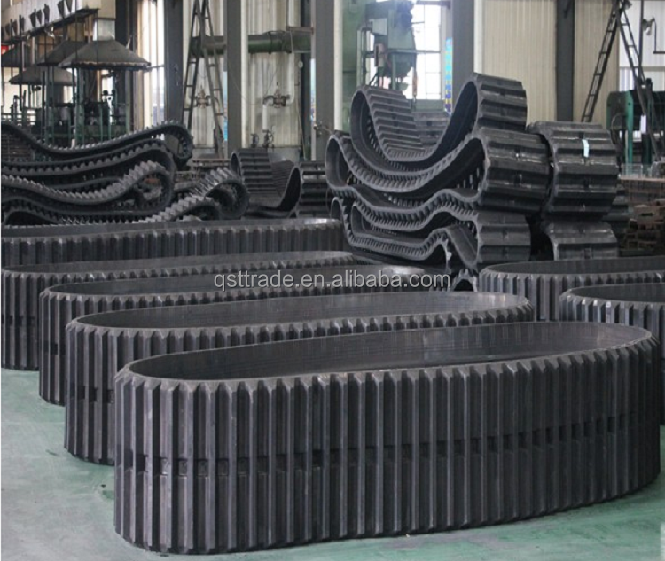 excavator track rubber, rubber track for construction machinery parts