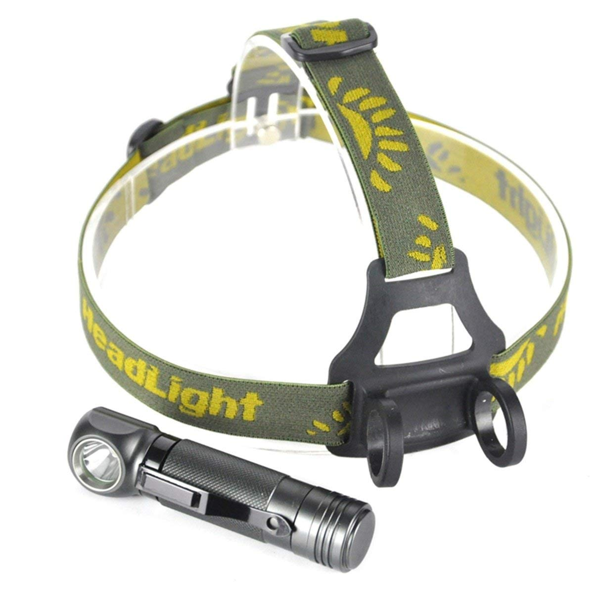 1 Pack 1000 Lumens XPL V5 LED Headlamp 3 Mode Head Lamp 5W Flashlight Headlight Likely Fashionable Ultra Xtreme Tactical Bright Light Waterproof Outdoor Running Hiking Hunting Fishing Camping Lights