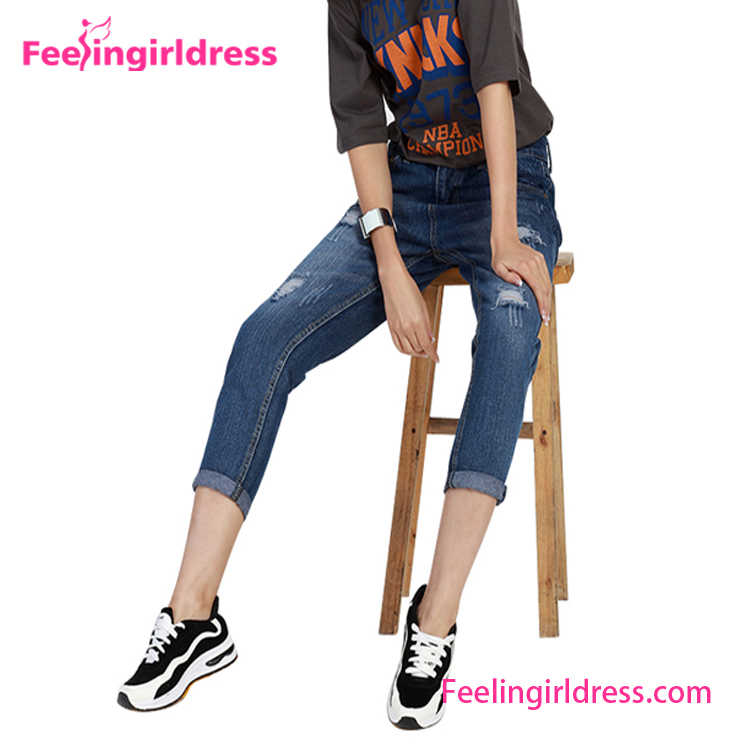 Wholesale Cheap China New Model Pent Style Fancy Girl Jeans