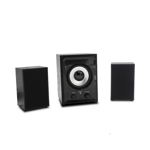 private mould good price wooden 2.1 multimedia mini speaker with USB SD FM blue tooth