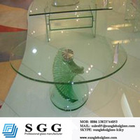 60 glass table top