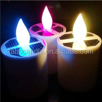 Outdoor Indoor Use Solar Candle Light Tea For