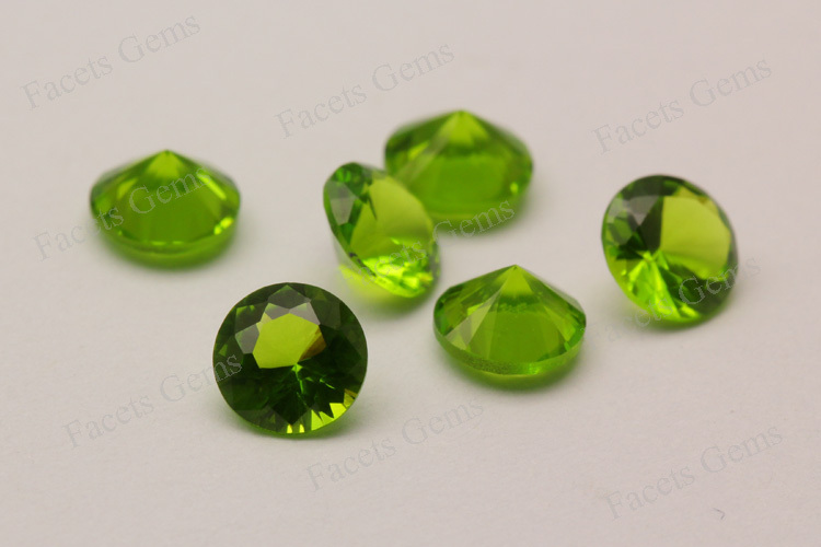 Facets Gems China Suppliers Unatural Glass Gems Round Brilliant ...