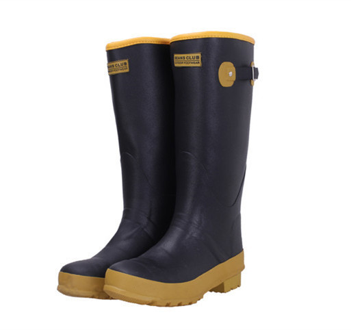 23bda897b23fa6 Get Quotations · 2015 New Women Mens Fashion Tall Rubber Rain Boots  Anti-slip Buckle Mixed Colors Rainboots