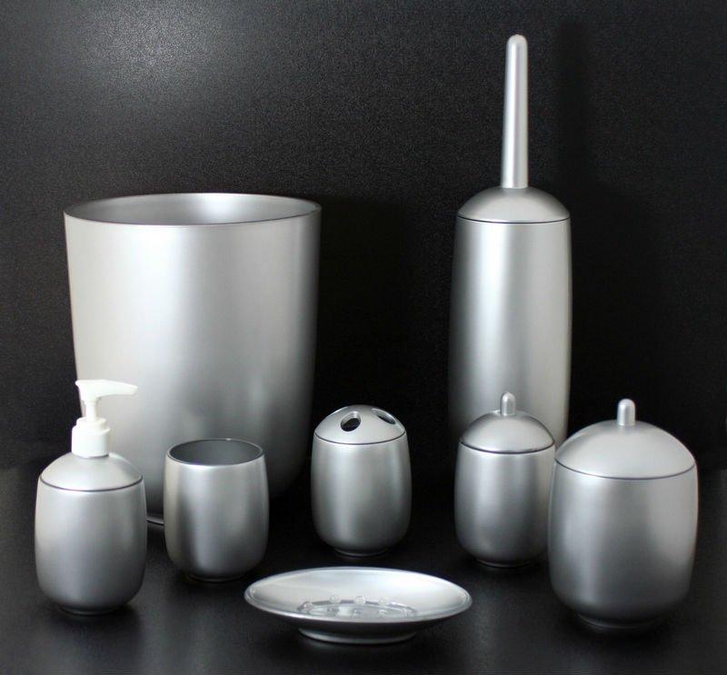 Argent Luxe Peint Acrylique Salle De Bains Accessoires / Ensembles ...