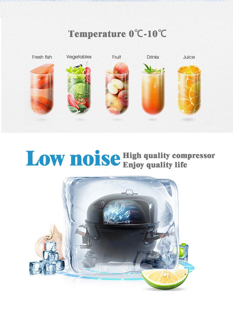 Großhandel Freies Individuelles Logo Glas Tür Mini Kleine Bar Kühlschrank Display Kühler