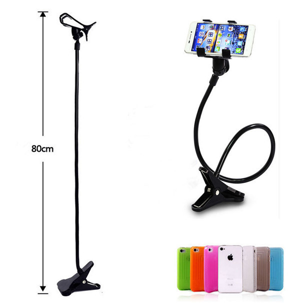 c7103f78f818 Universal Gooseneck Cell Phone Clip Holder Lazy Bracket Flexible Long Arms  phone holder for car