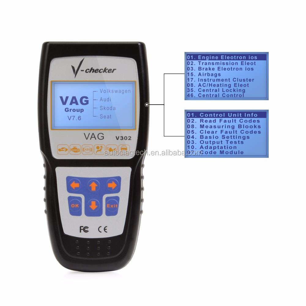Automotive Scan Tool >> V Checker V302 Vag Pro Automotive Scanner Diagnostic Scan Tool For Audi Volkwage Skoda Seat Buy Vag Scanner Diagnostic Scan Tool Automotive Scanner
