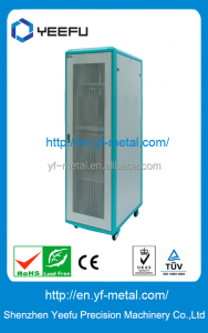 19 inch popular vented flat door indoor server rack cabinet