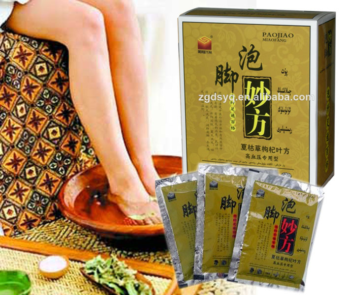 Specialized for HypertensionHaving foot bath powder Chinese troditional herbs