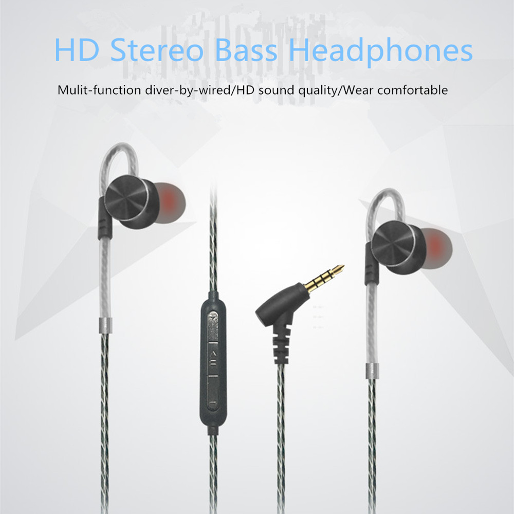 F1101 Hi-Fi Stereo Headphones In ear 3.5mm Wired With Mic Sport Headset Fone De Ouvido Super Bass Relaxed Fashion Mobile Earsets