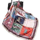"35"" Silk Like Scarf Women's Fashion Pattern Large Square Satin Headscarf hair wrap"