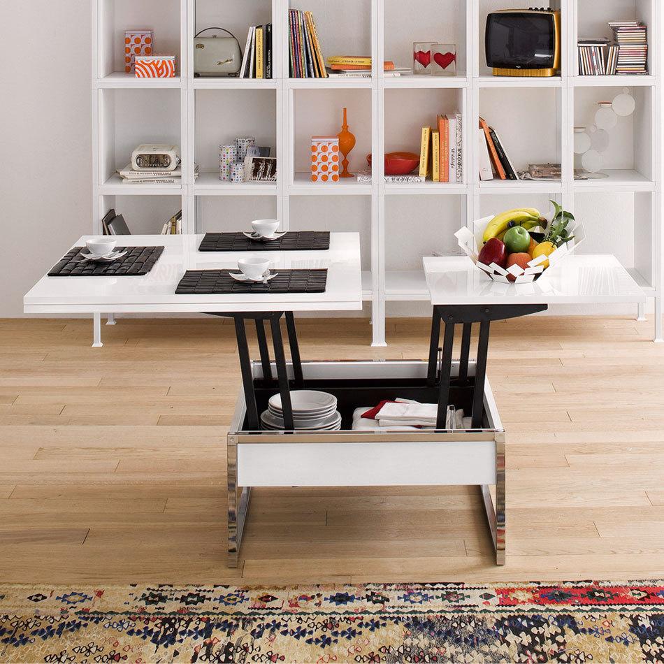 Lift Top Coffee Table Mechanism Space Saving Dinning Table Folding Set B12