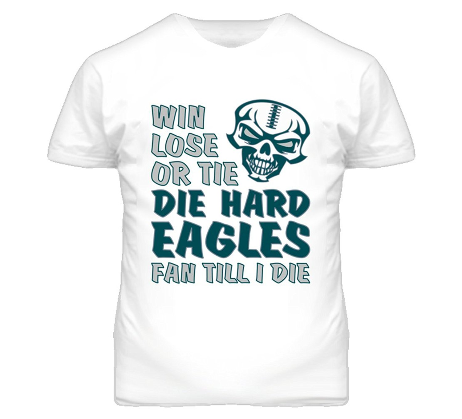 a49f37f11 Get Quotations · South Beach Boys  Die Hard Eagles Fan Until I Die Football  T-Shirt