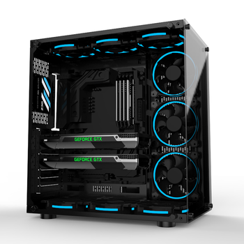 Tempered Glass Custom Computer PC Case Design