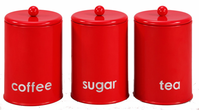 Red Coffee Canisters