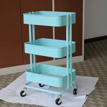 fe0aaf655fbb 3-tier Rolling Cart For Serving Utility Organization Kitchen Cart With  Portable Metal Handle Easy Moving Flexible Wheels - Buy 3-tier Rolling Cart  For ...