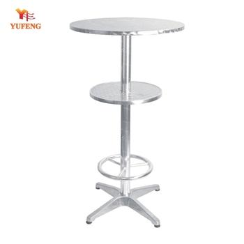 Mdf Top Stand Up Aluminium Folding Long High Bar Table   Buy Bar Height  Folding Tables,High Bar Table,High Wooden Bar Table Product On Alibaba.com