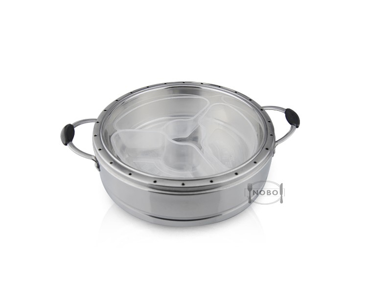 China factory gas food steamer with divides