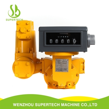 Selectable aluminum cast iron stainless steel yellow LC Industrial flow meter