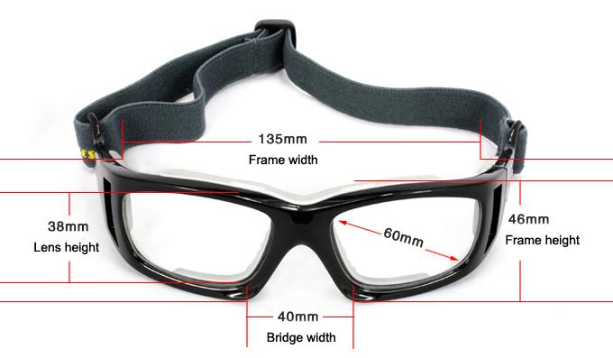 f2ad1bc17ce Manufacturer Anti-Stock Basketball Glasses Sports Goggles Prescription  Sport Glasses with Strap