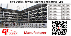 Five-Deck Sideways-Moving and Lifting Type/open land car parking solution/5-floor smart puzzle type car parking system