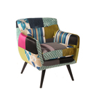 Patchwork Fabric Modern Style Popular Single Sofa Seat