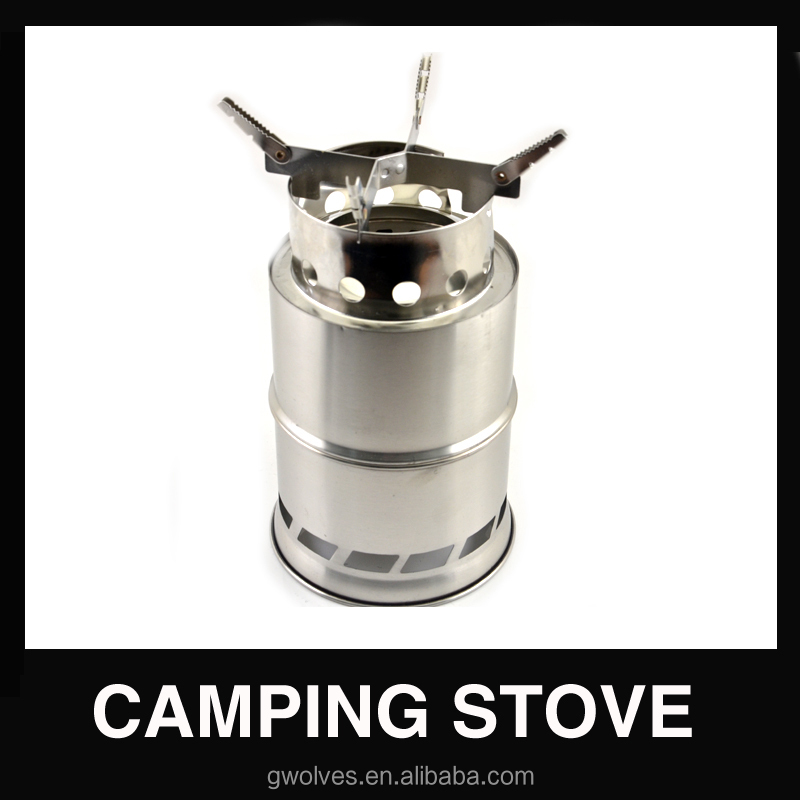 Folding stainless steel wood burning stove for outdoor Camping