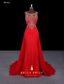 3b124263d770 Guangzhou BELLA BRIDE new launched different types of frocks designs red  lady party wear western dress