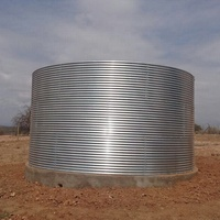 Large capacity hot galvanized steel water storage poultry water tank 50 cubic meter 200m3