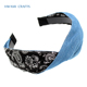 New design baby accessories denim hair band pattern head band P-2515