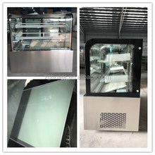 cake refrigerator/glass door fridge for cake /Japanese style cake showcase