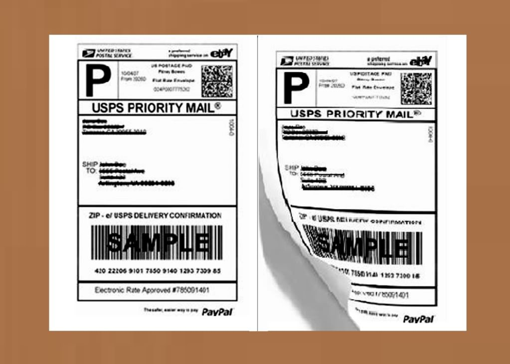 Perforated 200 Quality Round Corner Shipping Labels 2/sheet For Usps Paypal  - Buy Shipping Labels,Shipping Labels,Shipping Labels Product on