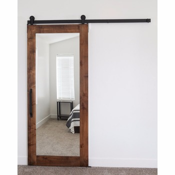 H tel style plein miroir portes d 39 entr e en bois porte en - Specchio per porta ...