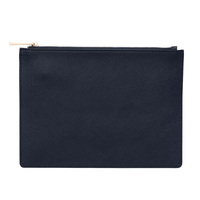 Good quality saffiano leather purse navy blue saffiano leather pocuh saffiona zipper clutch pouch