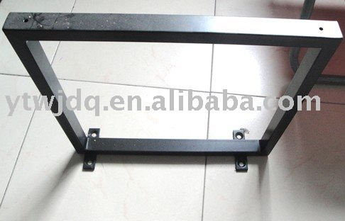 Pied de table metal metal table legs trapezoid flat bar table