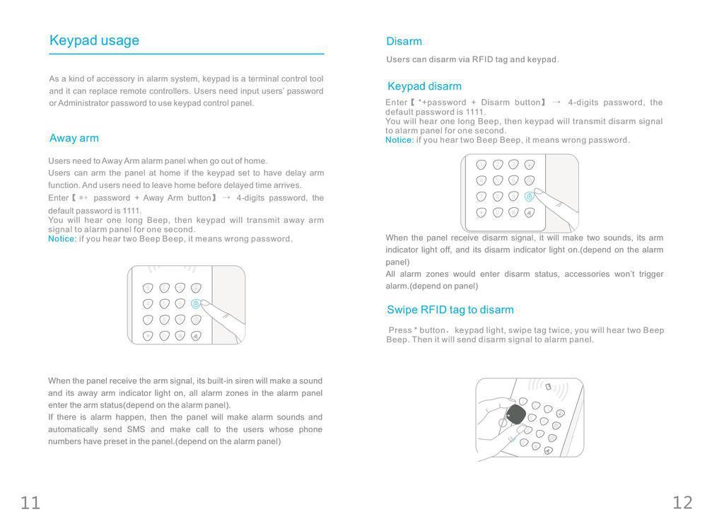 Intelligent 80m Signal Transmission 433/868mhz Wireless Rfid Keyboard For  Gsm/pstn Alarm System - Buy Keyboard,Wireless Numeric Keypad,Wireless  Keypad