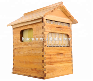 7 frames automatic honey flow beehive with plastic frame
