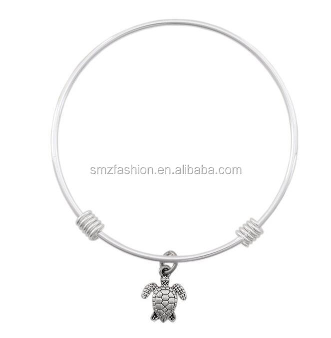 Fashion Sea Turtle Bracelet - Silver Expandable Bracelet Bangle