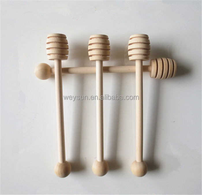 Honey Wood Spoon Jam Dipper Cuchara Miel Mini Long Wooden Honey Spoon Stick Natural Beech Honey Wood Spoon
