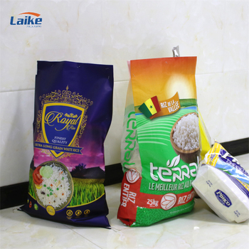 Custom print rice packaging bag 50kg 25kg with logo plastic woven bag pp woven bag for rice flour