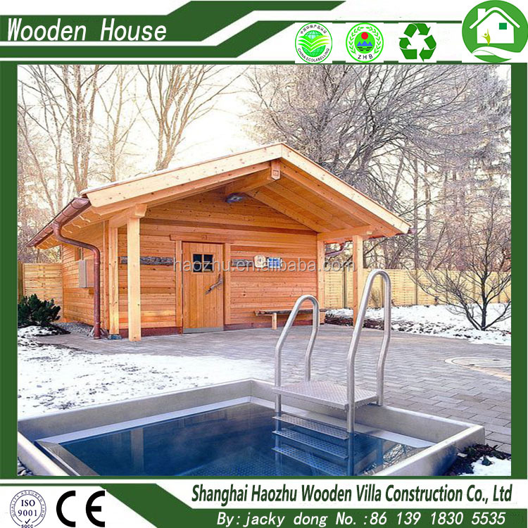 Beautiful prefabricated wood luxury house bungalow made in China